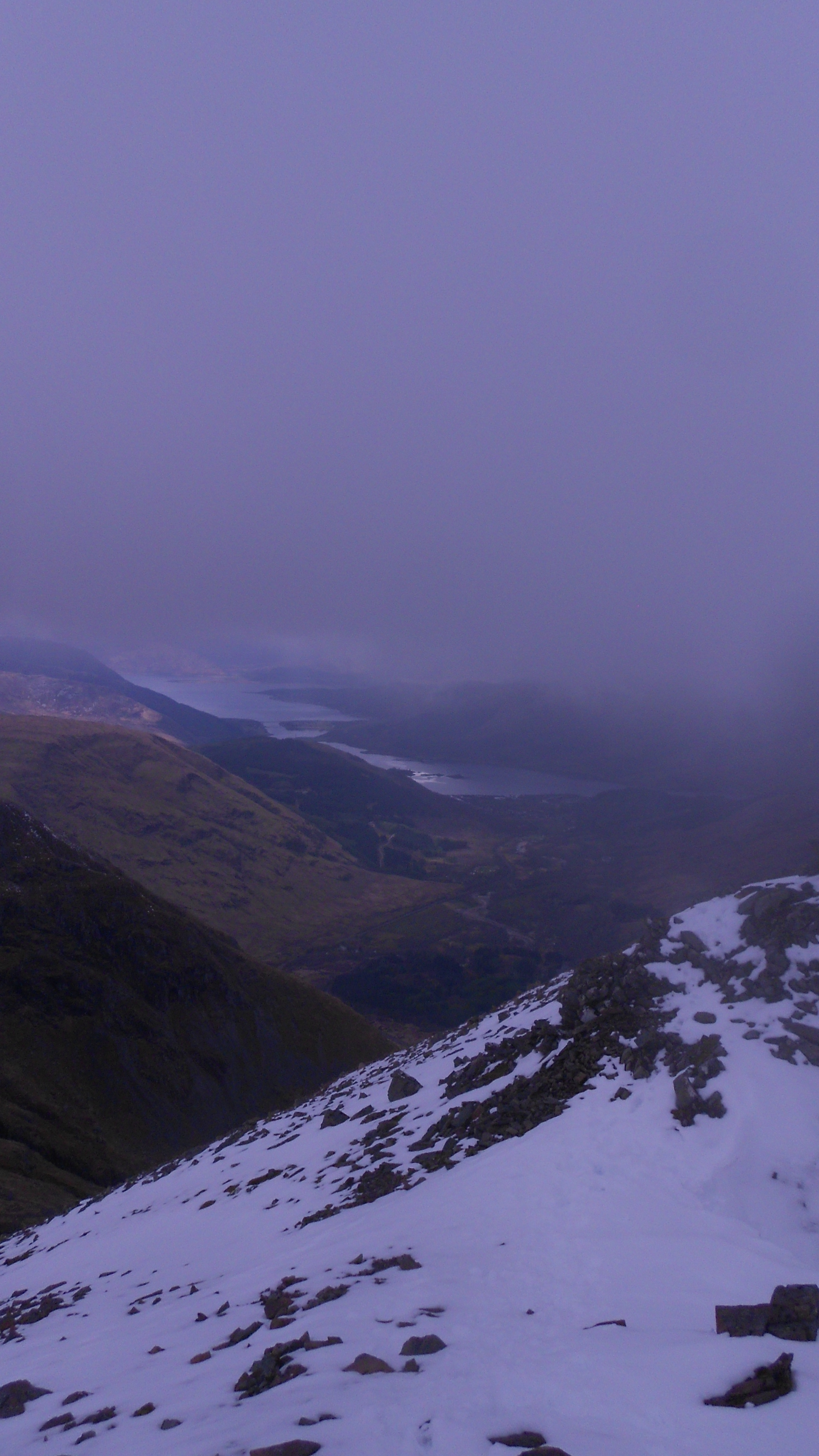 from the top of Bidean nam Bian, Glencoe, Scotland, Apr. 21, 2012